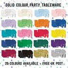 *Tablecover Luncheon Napkins Plates Set Partyware Solid Colour Colours Party*