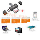 Class10 32GB 128GB Micro SD Card TF Flash Memory SDHC Free Adapter For Phone PC