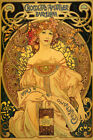 Mucha Chocolate Amatller Barcelona Spain Lady Vintage Poster Repro FREE SHIP