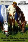 Horse Eventing Dressage Jumping Thoroughbred Vintage Poster Repro FREE SHIP