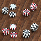 2pcs Acrylic Stripe Magnetic Fake Cheater Expander Clip On No Piercing Earrings