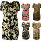 Womens Plus Size Long Printed Tshirt Tops Stretch Fit New Size UK 16-28