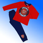 Boys Authentic Official Arsenal FC Football Badge Pyjamas #AFC Age 4-12 Years