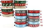 Dovecraft Christmas Ribbon - Modern Traditional 10mm Grosgrain 2m Length _New