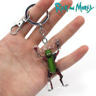 Pickle Rick and Morty Keychain Keyring Pendants Cosplay Collect PVC Keychains