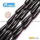 """Natural Black Onyx Agate Faceted Teardrop Loose Beads For Jewelry Making 15"""""""