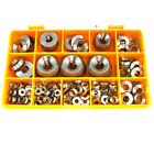 168 ASSORTED A4 MARINE STAINLESS SOLID TURNED FULL BODY SCREW CUP WASHERS KIT