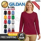 Women's BLANK casual long sleeve T-shirt GILDAN Basic Neck 5