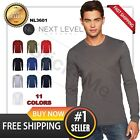 NEW MAN'S BLANK T-SHIRT Premium LONG SLEEVE CASUAL TEE Shirt Next Level NL3601  image