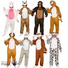 Adults Mens Ladies Deluxe Zoo Animal Jumpsuit Mascot Fancy Dress Costume Outfit
