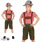 Boys Childs Oktoberfest Bavarian Lederhosen German Festival Fancy Dress Costume