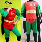 NEW W039 Boy Girl Kids Birthday Party Costume Muscle-Chest Robin size 2 - 7 Yrs