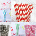 NEW Paper Straws Birthday Party Wedding or Baby Shower - Choose Your Pattern!