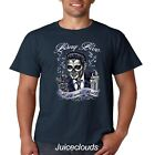 Elvis T-Shirt Sugar Skull King Of Rock and Roll Zombie Men's Tee