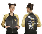 Star Wars 40th Anniversary C3P-O Droid R2-D2 Embroidered Satin Jacket Womens S $93.33 CAD