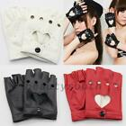 Fashion Half Finger Driving Dance Women PU Leather Fingerless Gloves New