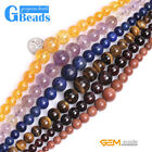 """Assorted Graduated Gemstone Round Beads For Jewelry Making Free Shipping 15"""""""