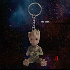 Guardians Of The Galaxy 2 PVC Schlüsselanhänger Groot Pocket Figur Keychain Set