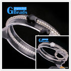 Gray Black Star Cat Eye & Seed Beads Elastic Bracelets+Rings Sets Christmas Gift