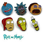 New Rick and Morty Enamel Brooch Pin Pickle Rick Mr. Meeseek Chest Pin Gifts