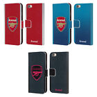 OFFICIAL ARSENAL FC 2017/18 CREST KIT LEATHER BOOK CASE FOR APPLE iPHONE PHONES