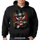 Evil Clown Hoodie Mad Joker - Liquid Blue Men's Sweatshirt