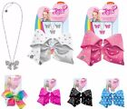 JOJO SIWA UNICORN 20CM SIGNATURE PATTERNED BOW NECKLACE EARRINGS SET HAIR CLIPS