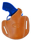 "New Barsony Tan Leather Gun Pancake Holster for S&W 2"" Snub Nose Revolvers"