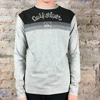 Quiksilver Plain Long Sleeve T-Shirt Brand New in Grey size S