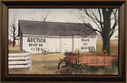AUCTION BARN by Billy Jacobs 15x23 FRAMED PRINT Wheels Wagon PICTURE