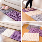 Home Absorbent Non-slip Cobblestone Rug Bathroom Kitchen Mat Door Carpet Decor