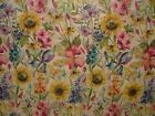Voyage Decoration Sunflower Summer Floral Curtain Upholstery Heavy Linen Fabric