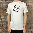 Es Script tee - White Casual T-Shirt New - Size: Small