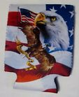 4th of July Can Koozie Bottle beverage Coolers Insulators Patriotic Eagles Cats