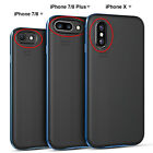 For iPhone X 10 6 6S 7 8 iPhone8 Plus Soft TPU Slim Cover Shockproof Bumper Case