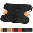 Slim Carbon Fiber Credit Card Money Holder Metal Wallet RFID Non-scan Clip Purse