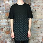 Krew Checkerfade Vintage Short Sleeve T-Shirt New in Black - Size:S,M,L.