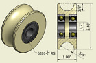 2.4 Inch Nylon Pulley Wheel Various Groove Sizes to Choose 1/2 inch Bearing Bore