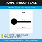 Tamper evident lollipop shaped jar seals - 25 x 78mm with permanent adhesive