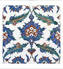 "DECORATIVE CANVAS/PAPER ""Iznik Design II"" NEW choose your SIZE, 55cm to X LARGE"