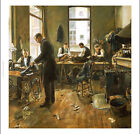 "LEON BARTHOLOMEE ""Tailors"" portrait ON CANVAS choose your SIZE, 55cm to X LARGE"