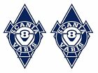 2 Stickers autocollants losange Scania V8 camion truck decals  Ref: scania041