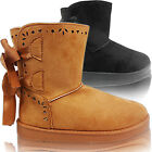 NEW WOMENS LADIES FUR LINED FLAT LACE UP WINTER SNOW ANKLE BOOTS CASUAL SIZE