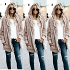 Womens Winter Warm Fur Cardigan Loose Outwear Long Coat Double Sided Jacket GIFT