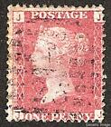 1858-79 1d ROSE-RED USED SG43/44 Plates 81-100