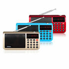 New FM/MW/SW Radio Speaker MP3 Player w/Flashlight Sleep timer Clock ( 3 Colors)