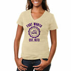 TCU Horned Frogs Women's Old-School Seal Tri-Blend V-Neck T-Shirt - College