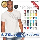 NEW MAN'S BLANK T-SHIRT Premium Fitted Cotton Shirt Next Level NL6210  image
