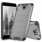 For Huawei Ascend XT2 / Elate 4G Armor Brushed Case Cover+Tempered Glass Screen