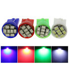 10x T10 W5W LED White/Blue/Red/Green Lights 12V Side License Door Reading Bulbs